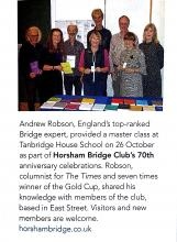 Bridge club with Roger Waddingham