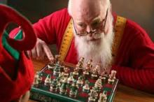 santa plays chess