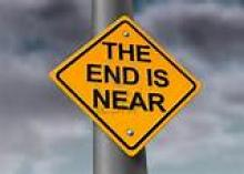 Sign saying the end is near